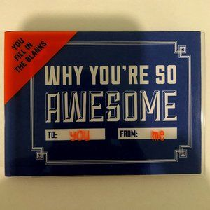 NWT Why You're So Awesome Customizable Gift Book